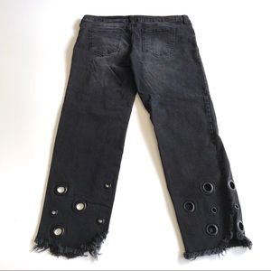 Celebrity Pink Ankle Straight Distressed Jeans